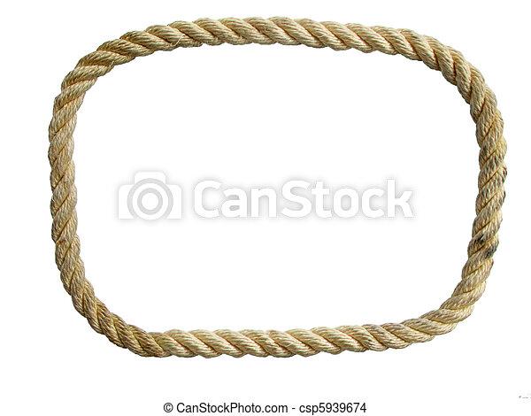 isolated nylon rope loop - csp5939674