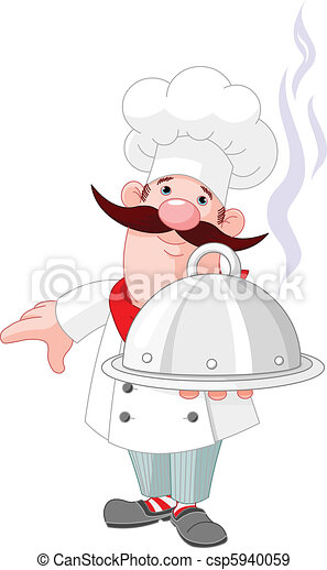 Chef cook and plate - csp5940059