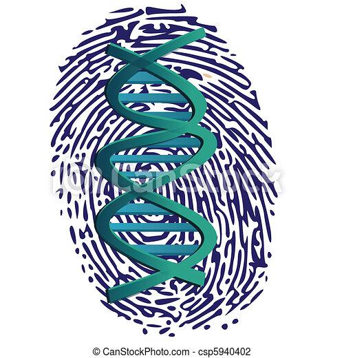 thumbprint and DNA - csp5940402