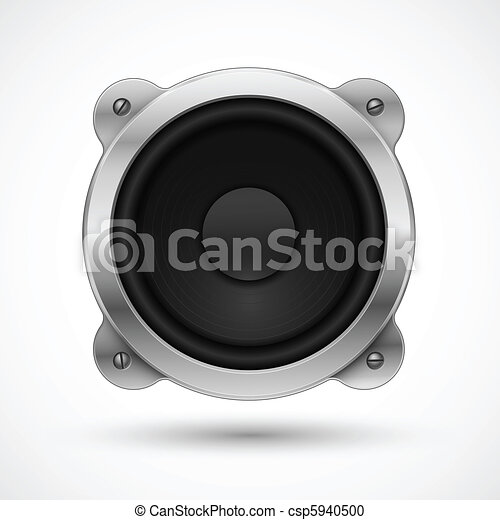 Speaker icon. Element for your urban design. - csp5940500