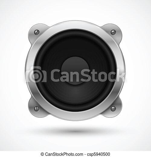 Speaker icon. Element for your urban design. - csp5940500