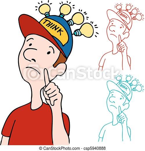 Animated Thinking Cap Thinking Cap Clipart