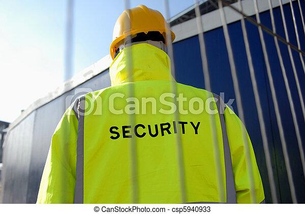 セキュリティー, construction. - csp5940933