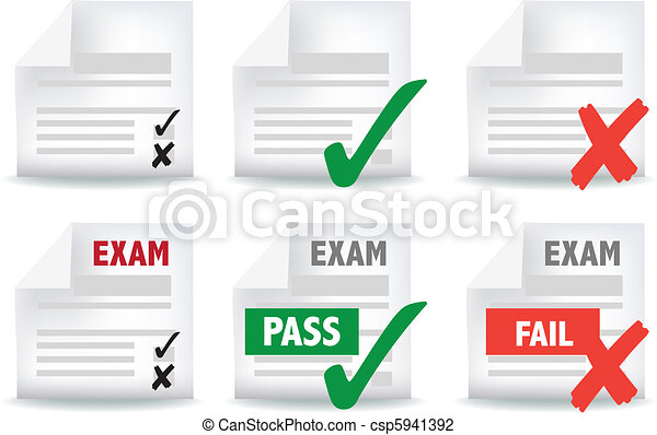 exam paper icon - csp5941392