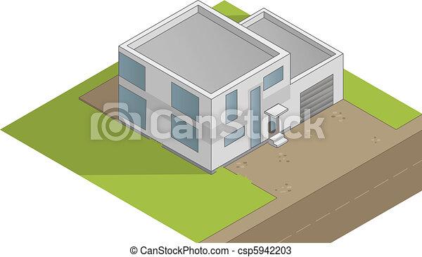 Isometric House Drawings Isometric House Illustration