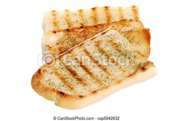 isolated garlic bread - csp5942632