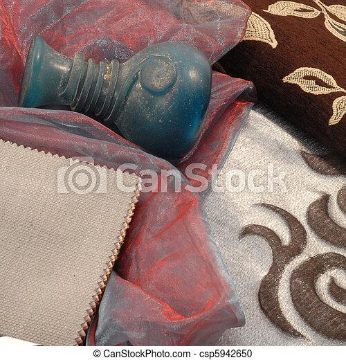 fashion textiles for decoration  - csp5942650