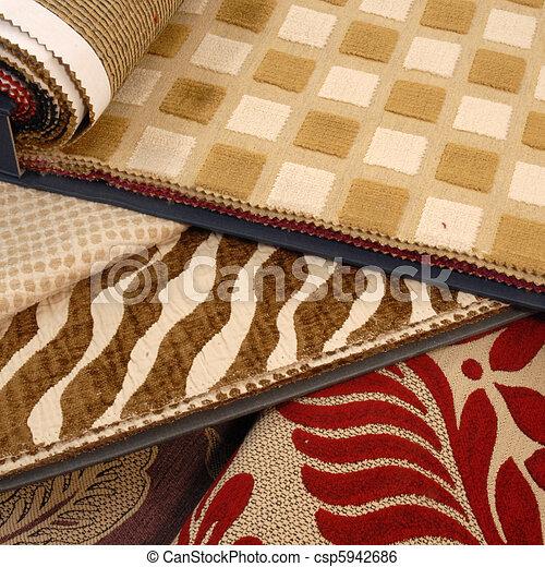decoração, moda, tecidos - csp5942686