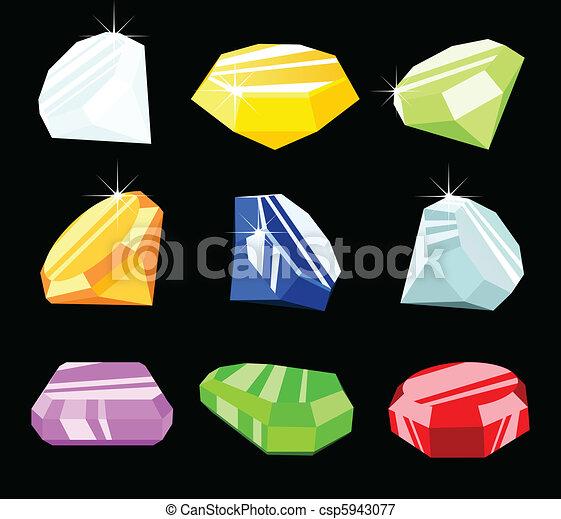 Jewels and gemstones - csp5943077