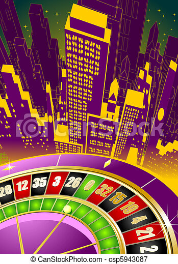 Abstract gambling illustration - csp5943087