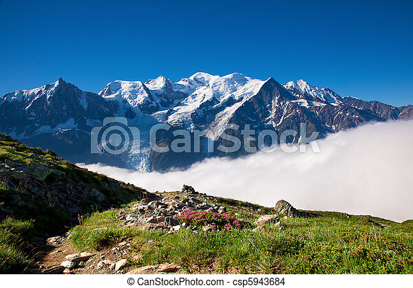 A beautiful view of the french alps - csp5943684