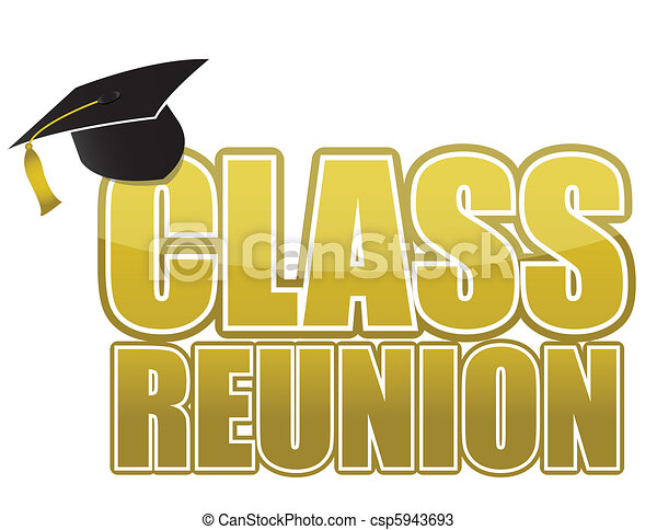 Vectors of class reunion Graduation cap isolated on white background ...