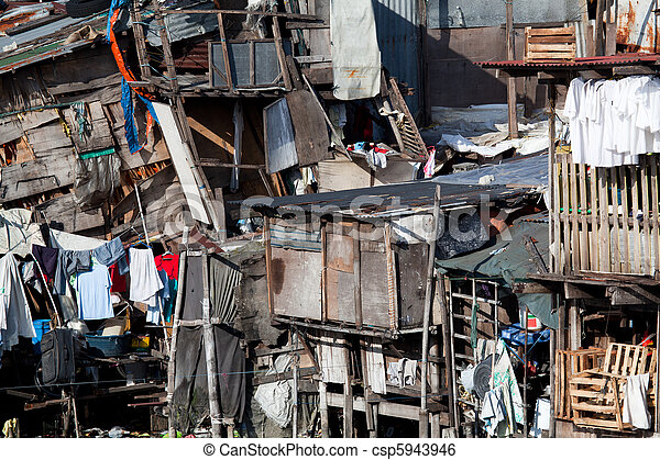 Shanty - Squatter housing in Asia - csp5943946