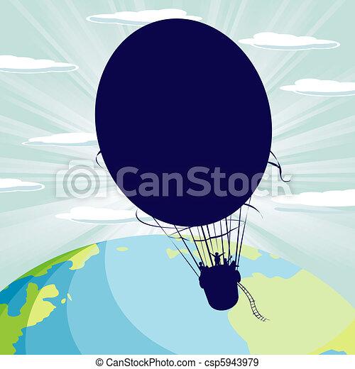 Hot air balloon - csp5943979