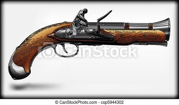 Piracy pistol  - csp5944302