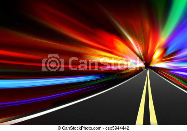 abstract night road - csp5944442