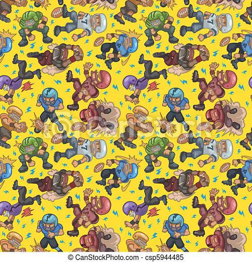 seamless football pattern  - csp5944485