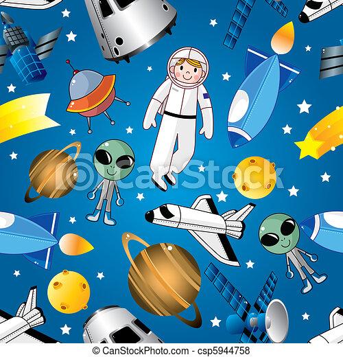 seamless space pattern  - csp5944758