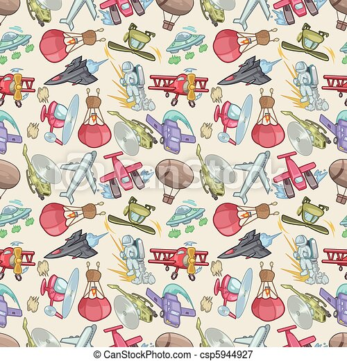 seamless airplane pattern  - csp5944927