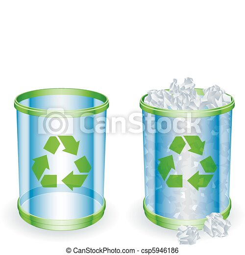 Trash cans. - csp5946186
