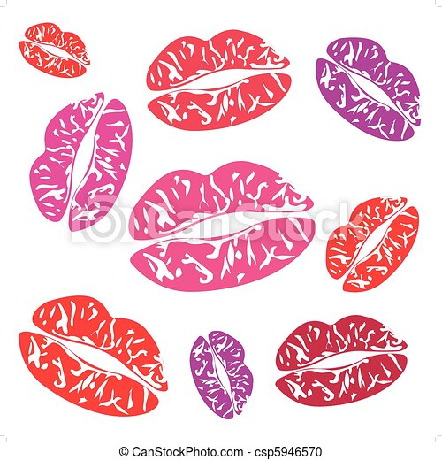 Imprint of the feminine lips - csp5946570
