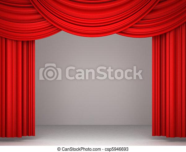illustration rouges th tre rideau banque d 39 illustrations illustrations libres de droits. Black Bedroom Furniture Sets. Home Design Ideas