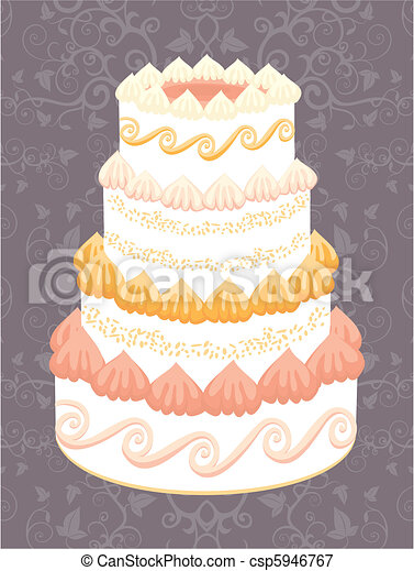 Wedding cake Save Comp Similar Illustrations