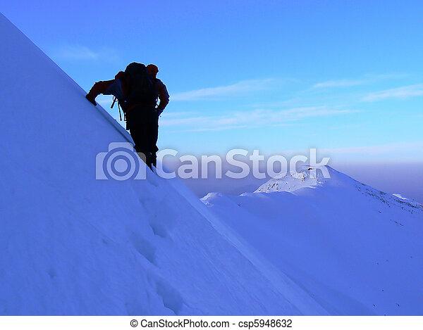 Walking on the ridge - csp5948632