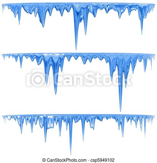 blue icicles - csp5949102