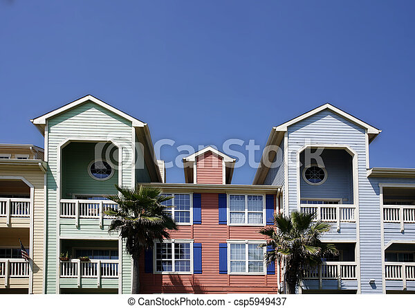 Colorful apartments (condo) - csp5949437