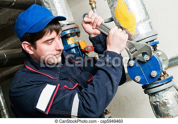 maintenance engineer in boiler room - csp5949460