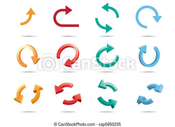 3D Cycle Arrows - csp5950235