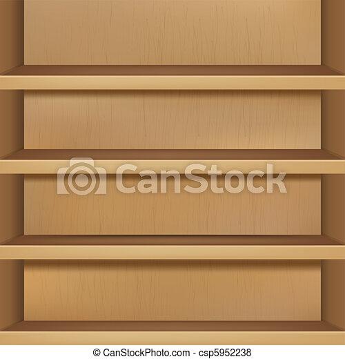 Wooden Empty Bookshelf - csp5952238