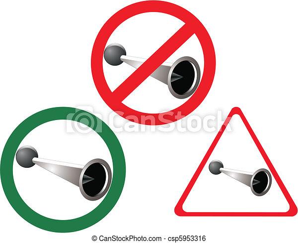 No Horn , Horn Blowing Allowed - csp5953316