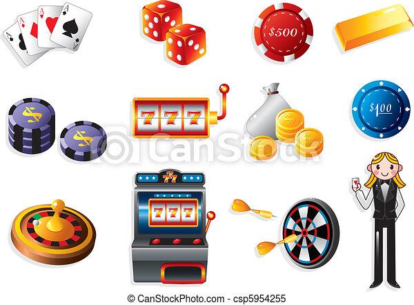 cartoon casino icon  - csp5954255