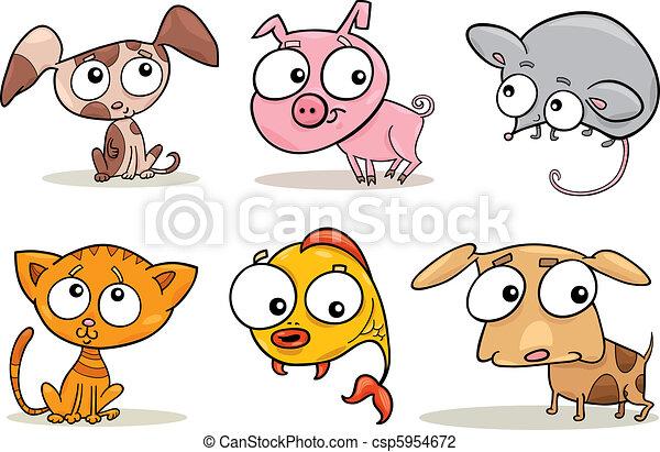 cute little pets - csp5954672