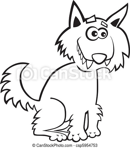 Wolf for coloring book - csp5954753