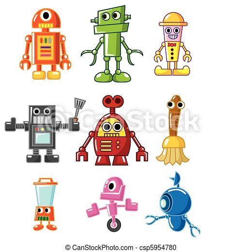 cartoon robot  - csp5954780
