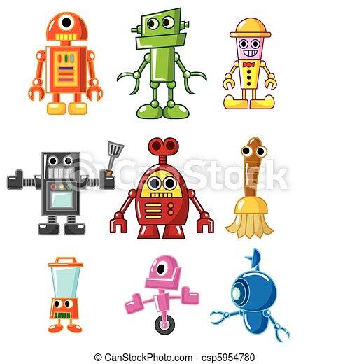 cartoon robot - csp5954780
