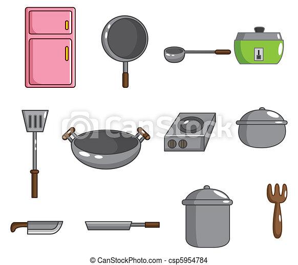 Eps vector de herramienta cocina caricatura icono for Herramientas cocina