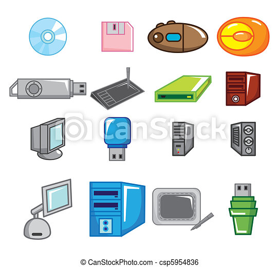 cartoon computer icon  - csp5954836