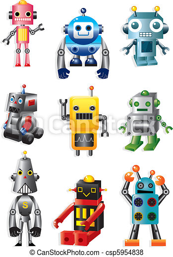 cartoon robots  - csp5954838
