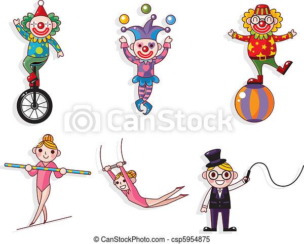cartoon circus  - csp5954875