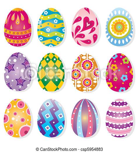 Vecteurs de couleur oeuf dessin anim dessin anim couleur oeuf csp5954883 recherchez - Dessin oeuf de paques couleur ...