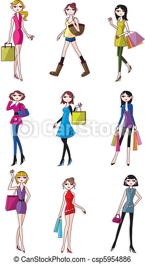 cartoon Beauty woman icon - csp5954886
