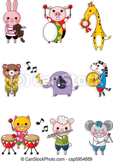 animal play music - csp5954889