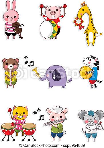 animal play music  - csp5954889