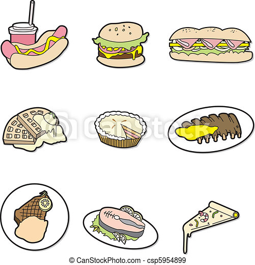 cartoon food icon - csp5954899