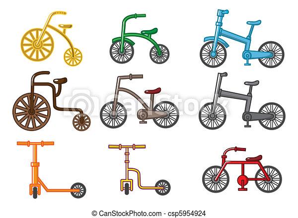 EPS vector de caricatura, bicicleta csp5954924 - Buscar Clipart ...