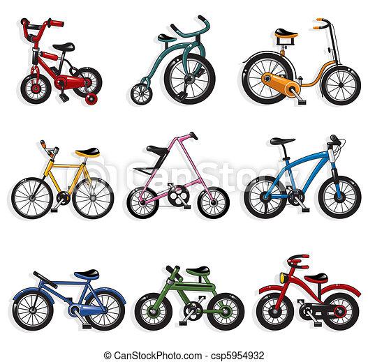 Ilustraciones de Vectores de caricatura, bicicleta csp5954932 ...